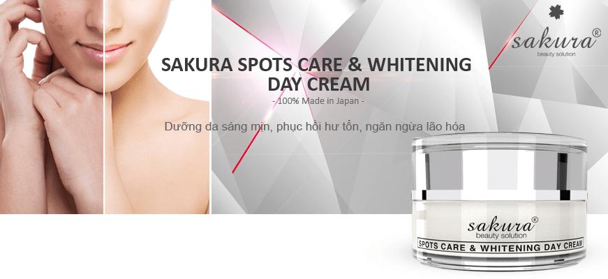 Kem trị nám dưỡng trắng da ban ngày Sakura Spots Care & Whitening Day Cream