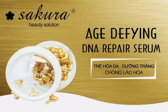 Serum chống lão hóa và nâng cơ mặt toàn diện Sakura giải pháp hoàn hảo cho làn da tuổi 30