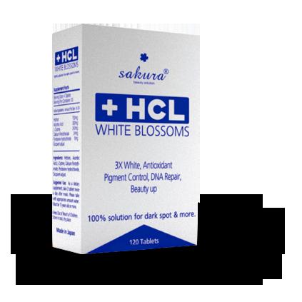 Viên uống trắng da trị nám Sakura HCL White Blossom