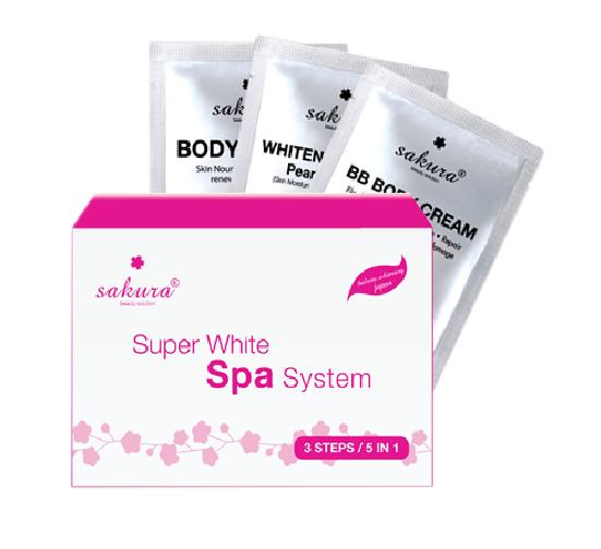 Bộ kem tắm trắng Sakura Super White Spa System