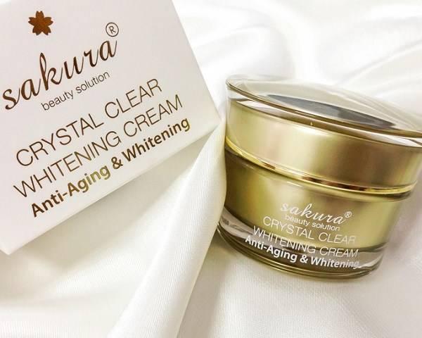 Chứng nhận kem dưỡng trắng da mặt chống lão hóa Sakura Anti Wrinkle Whitening