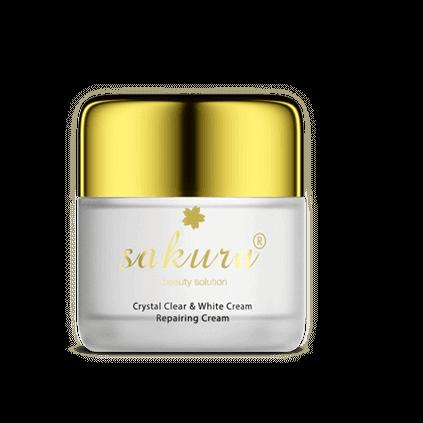 Chứng Nhận Kem dưỡng trắng chống lão hóa phục hồi da ban ngày Sakura Crystal Clear & White Cream Repairing Cream
