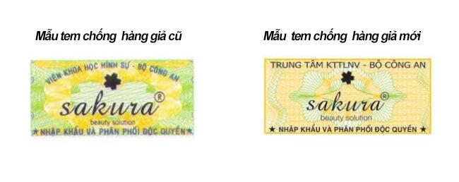 Sakura thông báo về việc đổi mẫu tem chống hàng giả Bộ Công An