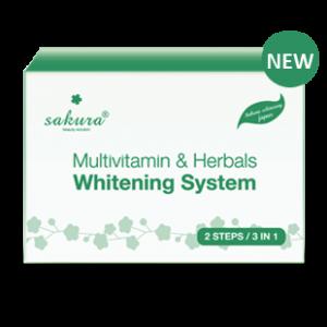 Bộ Set Kem Tắm Trắng Vitamin C Và Thảo Dược Tổng Hợp Sakura Multivitamin&Herbals Whitening System